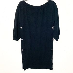 Karoo Mark Eisen 100% Cashmere Sweater Dress Black